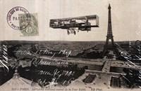 Aeroplane de Paris Fine Art Print