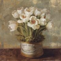 Hatbox Tulips Framed Print