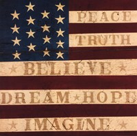 Inspired Colonial Flag Fine Art Print