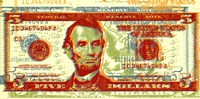 Five Dollar Bill Fine Art Print