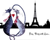 From Paris with Love Catitudes Fine Art Print