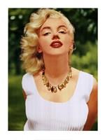 Marilyn Monroe Amber Beads Fine Art Print