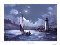 Moonlit Sail Framed Print