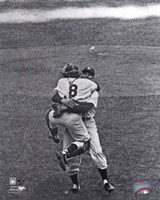 Don Larsen & Yogi Berra Game 5 of the 1956 World Series Perfect Game Fine Art Print