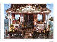Bentley Bear's Bait Shop Fine Art Print