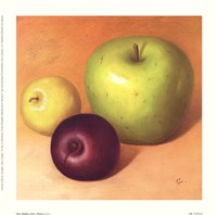 Two Apples And A Plum Fine Art Print