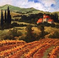 Tuscan Monastery Amidst Autumn Framed Print