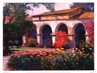 Capistrano Mission Delight Fine Art Print