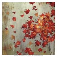 Crimson Foliage Framed Print