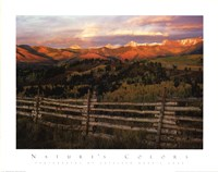 Cimmaron Range Sunset Fine Art Print