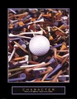 Character - Golf Tees Fine Art Print