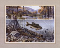 River Fishing Framed Print