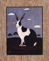 Folk Bunny Fine Art Print