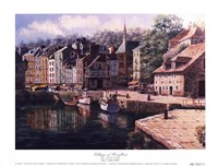 Village Of Honfleur Fine Art Print