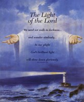Lighthouse and Jesus Fine Art Print