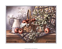 Quilt, Pitcher and Apples Framed Print
