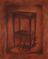Une Table Fine Art Print