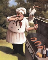Barbecue Chef Hot Sauce Fine Art Print