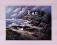 Lighthouse and Boat Fine Art Print