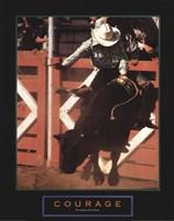 Courage - Bull Rider Framed Print