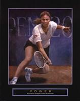 Power - Tennis Player Framed Print