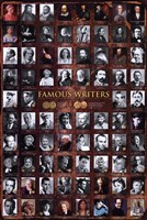 Famous Writers Wall Poster