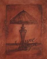 Une Lampe Fine Art Print