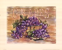 Fruit Stand Grapes Framed Print