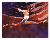 Olympic Gymnast Fine Art Print
