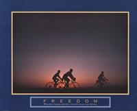 Freedom - Family Biking Fine Art Print