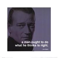 John Wayne - iPhilosophy - Right Wall Poster