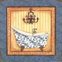 Blue Slipper Bath I Fine Art Print