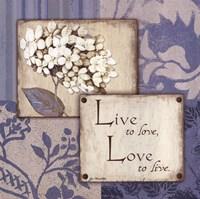 Live Love Fine Art Print
