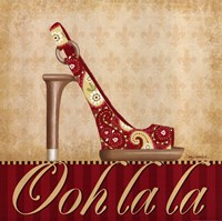 Ooh La La Shoe I Framed Print