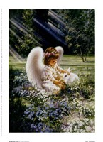An Angel's Care Framed Print