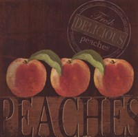 Delicious Peach Framed Print