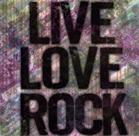 Live Love Rock Framed Print