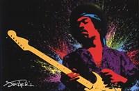 Jimi Hendrix (Paint) Wall Poster
