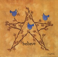 Twiggy Believe Framed Print