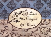 Love Begins at Home Framed Print