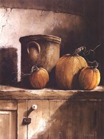 Crock and Pumpkins Fine Art Print