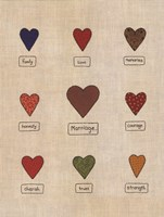 Marriage Hearts Fine Art Print