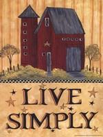 Live Simply Barn Fine Art Print