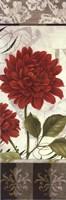 Etude en Rouge Panel I - mini Framed Print