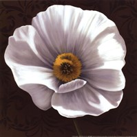 White Poppies I - mini Framed Print