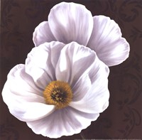 White Poppies II - mini Fine Art Print