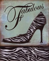 Zebra Shoe - mini Fine Art Print