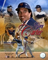 Gary Carter - (4 Team) Legends Fine Art Print