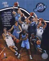 2009-10 Utah Jazz Team Composite Fine Art Print