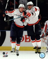 Alex Ovechkin & Nicklas Backstrom 2009-10 Action Fine Art Print